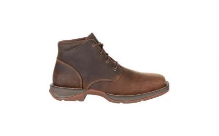 Durango DDB0248 - Men's - Red Dirt Rebel Plain Toe Chukka - Bark Brown