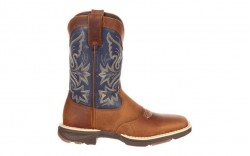 Durango - Women's - DRD0183 Ultra-Lite Western - Tan/Denim Blue Saddle