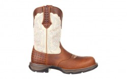 Durango - Women's - DRD0194 Rebel Composite Toe Saddle Western - Dark Brown/Cream