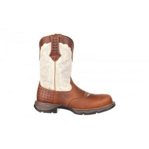 Durango - Women's - DRD0194 Rebel Composite Toe Saddle Western - Dark Brown/Cream