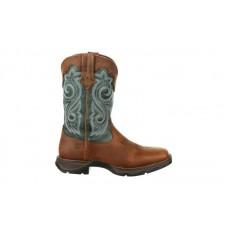 Durango - Women's - DRD0312 Rebel Waterproof Western Boot - Brown/Evergreen