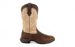 Durango - Women's - DRD0332 Rebel Western - Bark Brown/Taupe
