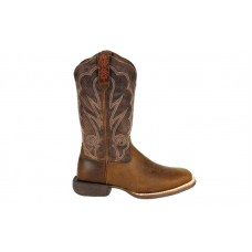"Durango DRD0377 - Women's - Lady Rebel Pro - 12"" Soft Square Toe - Oiled Brown/Plum"
