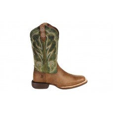 """Durango DRD0378 - Women's - Lady Rebel Pro - 12"""" Soft Square Toe - Dusty Brown/Olive Green"""