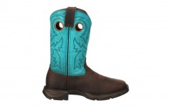 Durango - Women's - DWRD022 Rebel Steel Toe Western - Brown/Turquoise