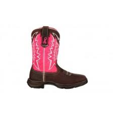 Durango - Women's - RD3557 Benefiting Stefanie Spielman - Dark Brown/Pink Ribbon