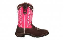 Durango - Women's - RD3557 Benefiting Stefanie Spielman - Dark Brown/Pink Ribbon
