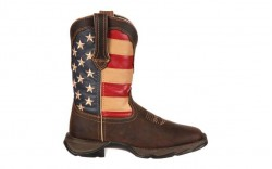 Durango - Women's - RD4414 Rebel Patriotic Pull-On Western - Brown/Union Flag