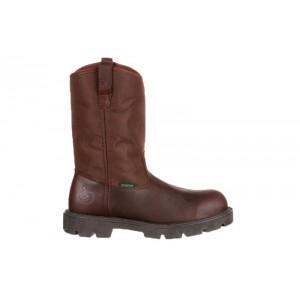 Georgia Boot G111 - Men's - Homeland Steel Toe Waterproof Wellington - Brown