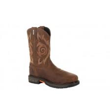 Georgia Boot GB00264 - Men's - Carbo Tec LT Steel Toe Waterproof Pull-On Work Boot - Brown
