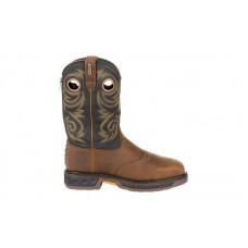Georgia Boot GB00267 - Men's - Carbo Tec LT Steel Toe Waterproof Pull-On Work Boot - Brown/Black