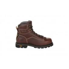"Georgia Boot GB00270 - Men's - AMP LT Logger 6"" Low Heel Waterproof Work Boot - Dark Brown"