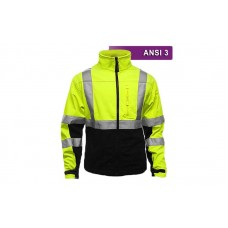 Reflective Hi Visibility Clothing - VEA-451 - Two-Tone Soft Shell - Lime/Black