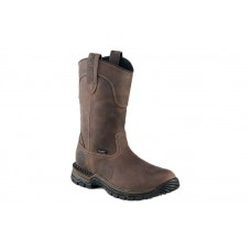 Irish Setter Work 83906 - Men's - Two Harbors - 11 Inch Brown Leather UltraDry Steel Toe Pull-On