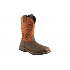 Irish Setter Work 83910 - Men's - Marshall - 11 Inch Brown/Rust Leather Pull-On Steel Toe