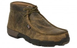 "Justin 235 - Men's - 4"" Dark Brown Driver Moc Steel Toe Work Boot"