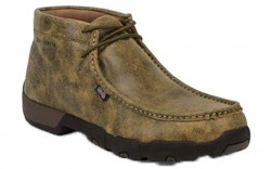 "Justin 237 - Men's - 4"" Tan Driver Moc Steel Toe Work Boot"