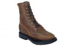 "Justin 760 - Men's - 8"" Aged Bark Lace Up Soft Roper Toe Work Boot"