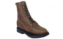 "Justin 764 - Men's - 8"" Aged Bark Lace Up Steel Roper Toe Work Boot"