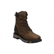"""Justin WK200 - Men's - 8"""" Tabacco Lace Up Steel Square Toe Work Boot"""