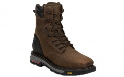 "Justin WK200 - Men's - 8"" Tabacco Lace Up Steel Square Toe Work Boot"