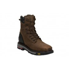 """Justin WK201 - Men's - 8"""" Tobacco Lace Up Waterproof Steel Square Toe Work Boot"""