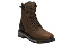 "Justin WK201 - Men's - 8"" Tobacco Lace Up Waterproof Steel Square Toe Work Boot"