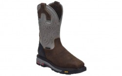 "Justin WK2102 - Men's - 11"" Brown Waterproof Steel Square Toe Wellington"