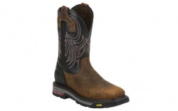 "Justin WK2104 - Men's - 11"" Aged Bark Steel Toe Wellington"
