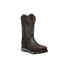 "Justin WK2150 - Men's - 11"" Brown Waterproof Composite Square Toe Wellington"