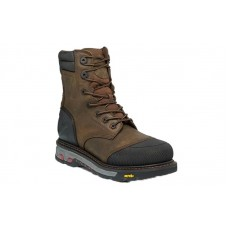 """Justin WK260 - Men's - 8"""" Tan Lace Up Waterproof Composite Round Toe Work Boot"""