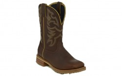 "Justin WK4201 - Men's - 11"" Whiskey Brown Waterproof Soft Square Toe Wellington"