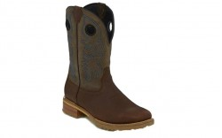 "Justin WK4205 - Men's - 11"" Brown Waterproof Soft Toe Wellington"