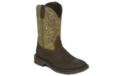 "Justin WK4308 - Men's - 11"" Brown Cactus Soft Square Toe Wellington"