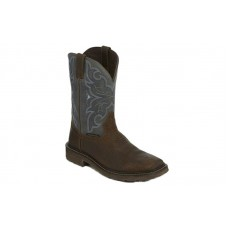 "Justin SE4312 - Men's - 11"" Brown Slate Waterproof Soft Square Toe Wellington"