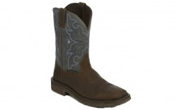 "Justin WK4312 - Men's - 11"" Brown Slate Waterproof Soft Square Toe Wellington"