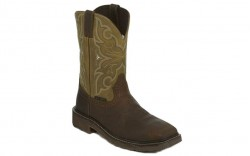 "Justin WK4313 - Men's - 11"" Brown Cactus Steel Square Toe Wellington"