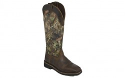 "Justin WK4555 - Men's - 17"" Shrublands Waterproof Soft Square Toe Snake Boot"