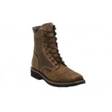 "Justin SE462 - Men's - 8"" Rustic Barnwood Lace Up Waterproof Composite Toe Work Boot"