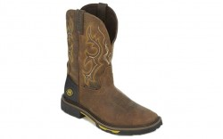 "Justin WK4624 - Men's - 11"" Rustic Barnwood Waterproof Soft Square Toe Wellington"