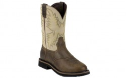 "Justin WK4661 - Men's - 11"" Waxy Brown Steel Round Toe Wellington"