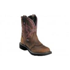 "Justin WKL9980 - Women's - 8"" Aged Bark Steel Toe Work Boot"