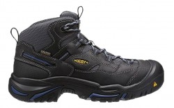 KEEN Utility 1014605 - Men's - Braddock Mid Waterproof Soft Toe - Raven/Estate Blue