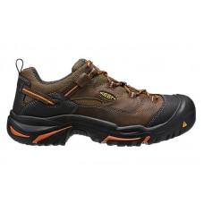 KEEN Utility 1014606 - Men's - Braddock Low Soft Toe - Cascade Brown/Orange Ochre