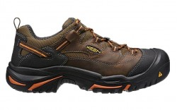 KEEN Utility 1014606 - Men's - Braddock Low Soft Toe - Cascade Brown/Orange Ochre