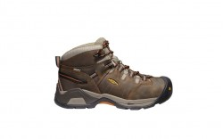 KEEN Utility 1020039 - Men's - Detroit XT Mid Waterproof - Black Olive/Leather Brown
