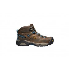KEEN Utility 1020086 - Men's - Detroit XT Mid Waterproof Steel Toe - Cascade Brown/Orion Blue