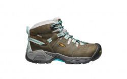 KEEN Utility 1020090 - Women's - Detroit XT Mid Waterproof Steel Toe - Gargoyle/Lake Blue