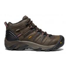 KEEN Utility 1022098 - Men's - Lansing Mid - Waterproof Steel Toe - Cascade Brown/Brindle