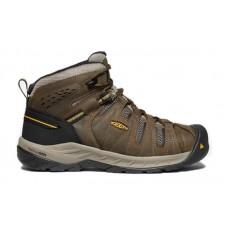 KEEN Utility 1023228 - Men's - Flint II Mid - Steel Toe - Cascade Brown/Golden Rod